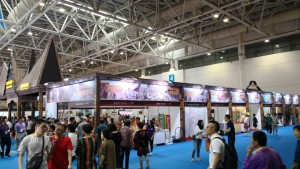 Suasana Cross-Strait Fair For Economy and Trade (CFET) di Fuzhou, pada Sabtu (19/05/2018).(Foto: Dok. KBRI Beijing)