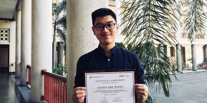 Mahasiswa UGM Angelo Abil Wijaya, Juarai Program Write to China
