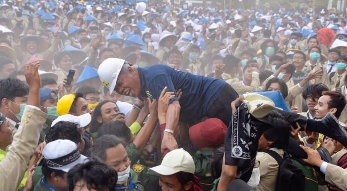 Begini Pesan Menteri Basuki Kepada 9.125 Gadjah Mada Muda.(Foto: Dok. Birkom PUPR)