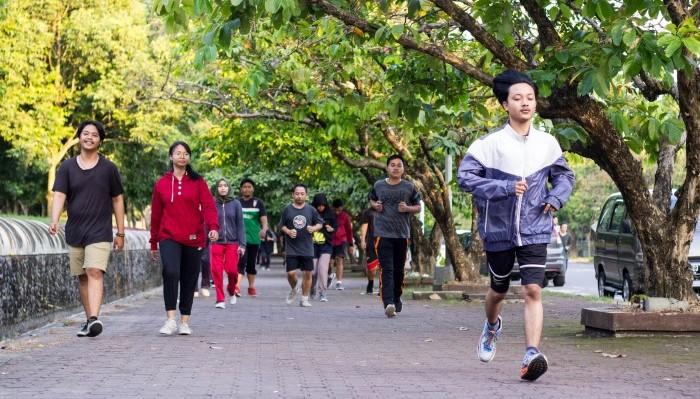 Lari Sore di Sudut-sudut UGM.(Foto: Nabil)