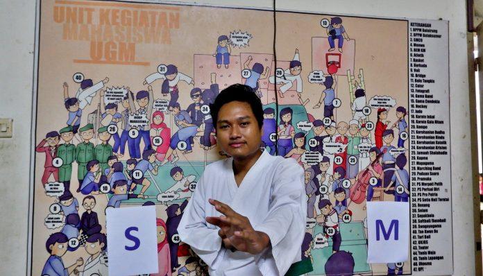 Menghidupkan kembali UKM Karate Kala Hitam menjadi fokus utama program kerja Koko selama menjadi ketua. Foto: Kinanthi