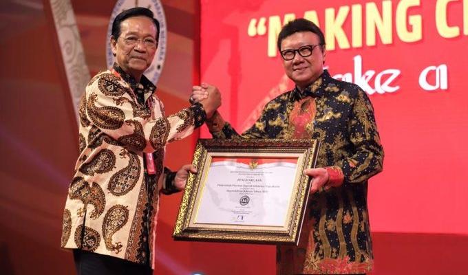 Sri Sultan HB X baru saja menerima penghargaan dari Kementerian Pendayagunaan Aparatur Negara dan Reformasi Birokrasi (PANRB). Foto: KemenPANRB