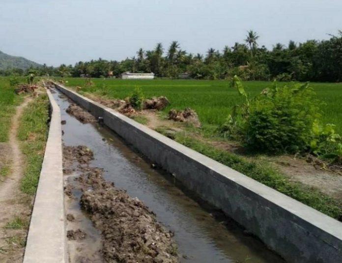 Percepatan peningkatan tata guna air irigasi (P3TGAI) menjadi salah kegiatan dalam padat karya tunai (PKT) untuk masyarakat di tengah pandemi Covid-19. Foto: Kementerian PUPR
