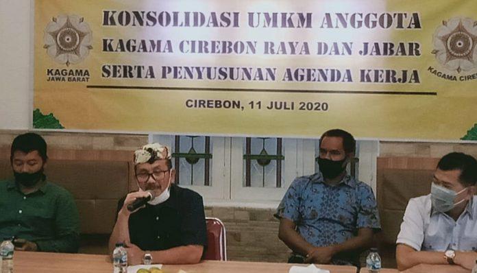 Pengda KAGAMA Jabar dan Pengcab KAGAMA Cirebon menggelar rapat koordinasi terkait program penguatan UMKM. Foto: Radar Cirebon