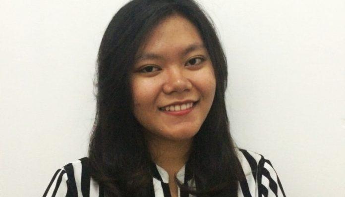 Presidium Internal Misa Kampus UGM, Anastasia Dea Puspita, berbagi pengalaman tentang organisasi yang dia pimpin. Foto: Ist