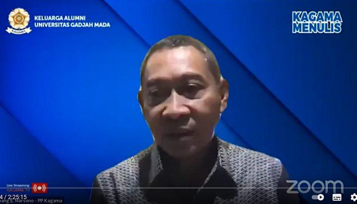 Memang ada orang yang punya banyak ide atau pemikiran, tapi kesulitan untuk mengungkapkan idenya baik secara verbal maupun tertulis, kata Ketua II PP KAGAMA, Bambang E. Marsono. Foto: Ist