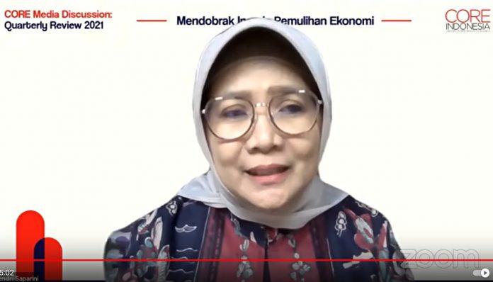 Hendri Saparini, Ph.D, Founder & Ekonom Senior CORE Indonesia optimis pertumbuhan ekonomi Indonesia tidak hanya mencapai angka 4 persen. Foto: Ist